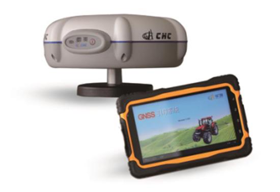 華測農機作業引導解決方案所需軟硬件設備,實時顯示線路情況,經濟實惠的亞米級解決方案所需設備支持