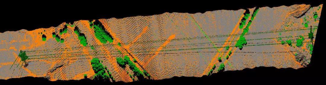 电力线路俯视图,华测激光雷达电力巡线在中的电力线路俯视图成果展示