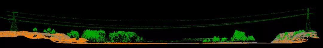 电力线路剖面图,华测激光雷达电力巡线中的电力线路剖面图,激光雷达电力巡线解决方案