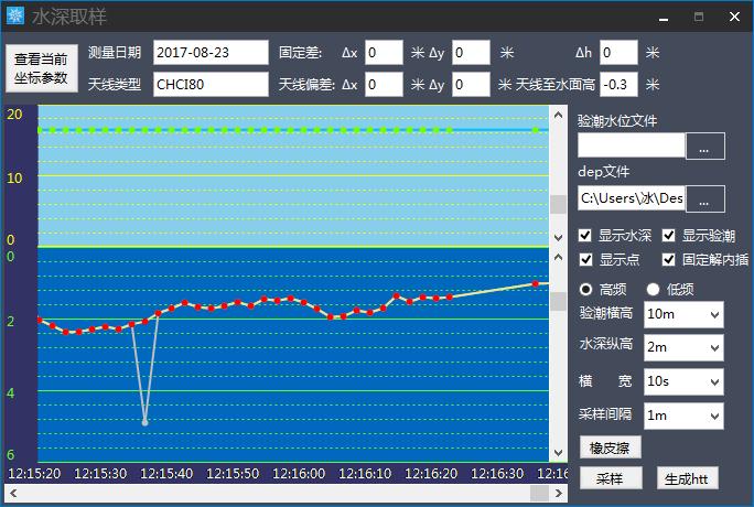 華測導航水下測量水深取樣,華測導航,水深取樣,