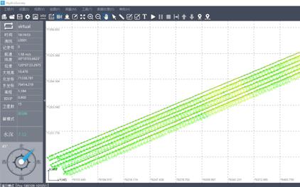 華測無人船水上水下一體化測量調查解決方案,水下測量航線規劃圖