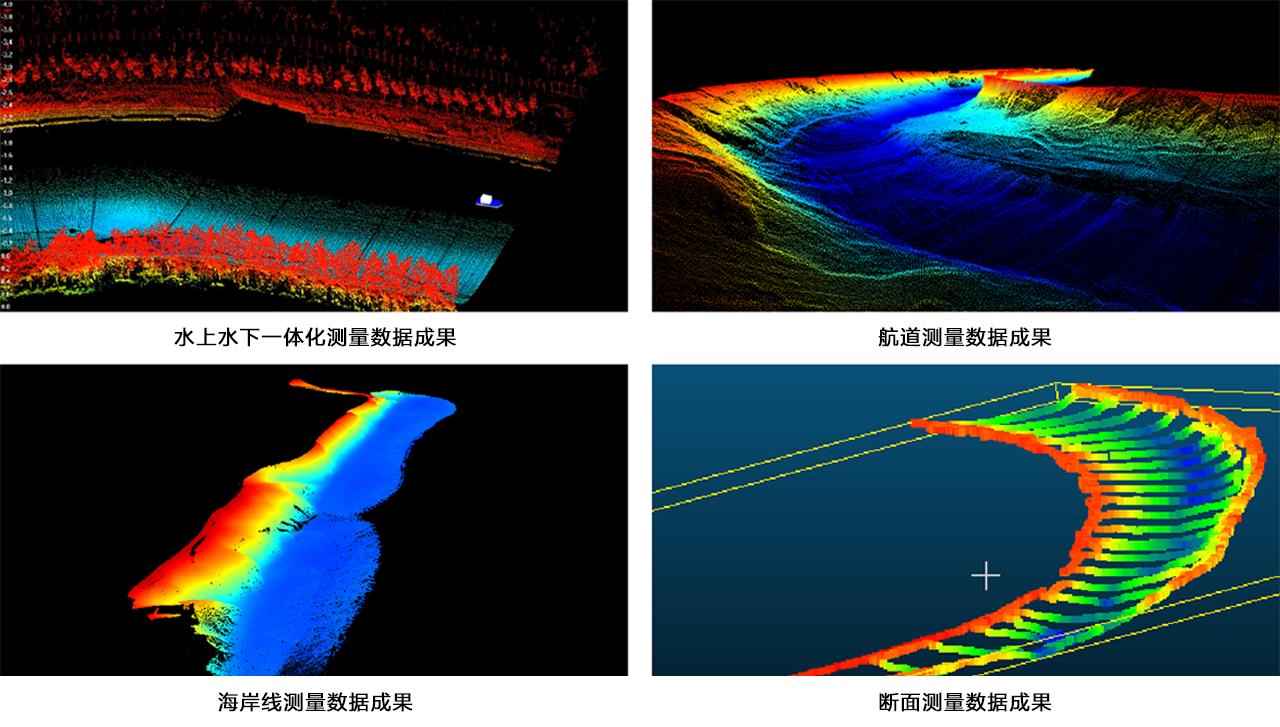 華測無人船水上水下一體化測量調查解決方案,水下測量數據成果展示圖,水上水下一體化測量方案項目成果展示