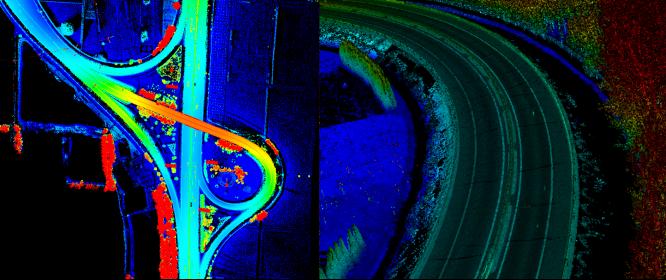 車載激光掃描測量系統應用于公路擴改建,公路擴改建點雲成果展示,高精度點雲數據成果展示