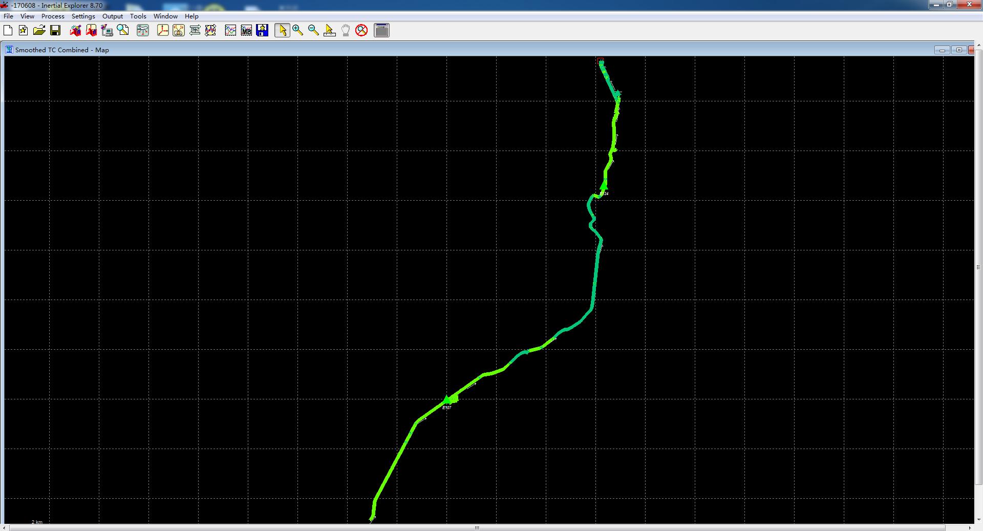 激光雷達系統應用于公路勘測的數據預處理POS解算圖,華測公路勘測應用方案分享