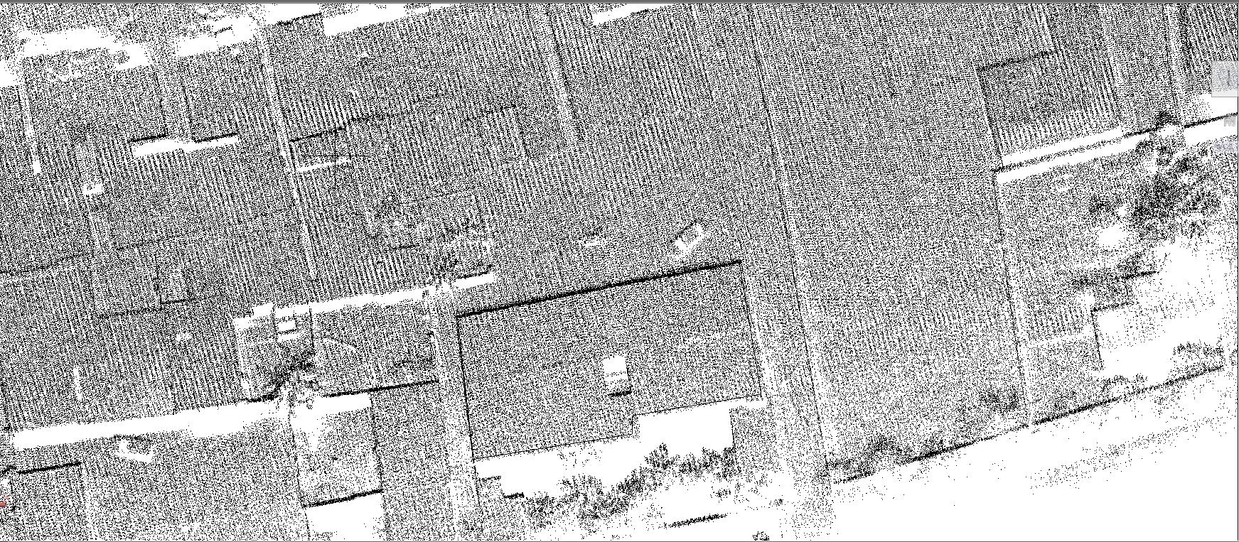 機載激光雷達系統在複雜地形測量中的應用,複雜地形測量中地形圖制作中的地物繪制展示圖,華測激光雷達系統應用于複雜地形測量中的案例分享