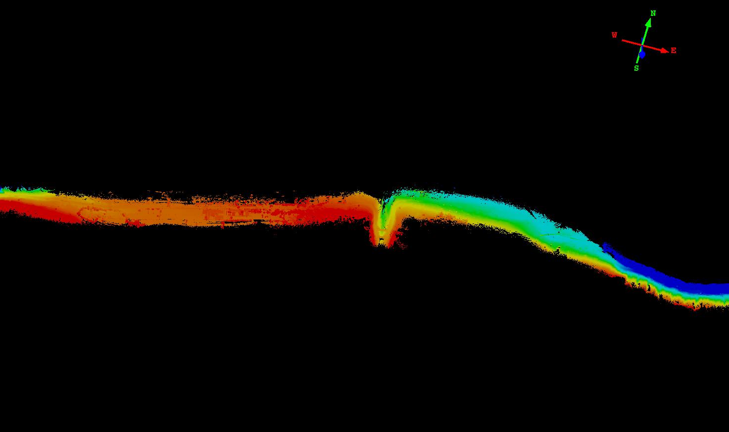 機載激光雷達系統在複雜地形測量中的應用,複雜地形測量的點雲成果展示圖,華測激光雷達系統應用于複雜地形測量中的案例分享