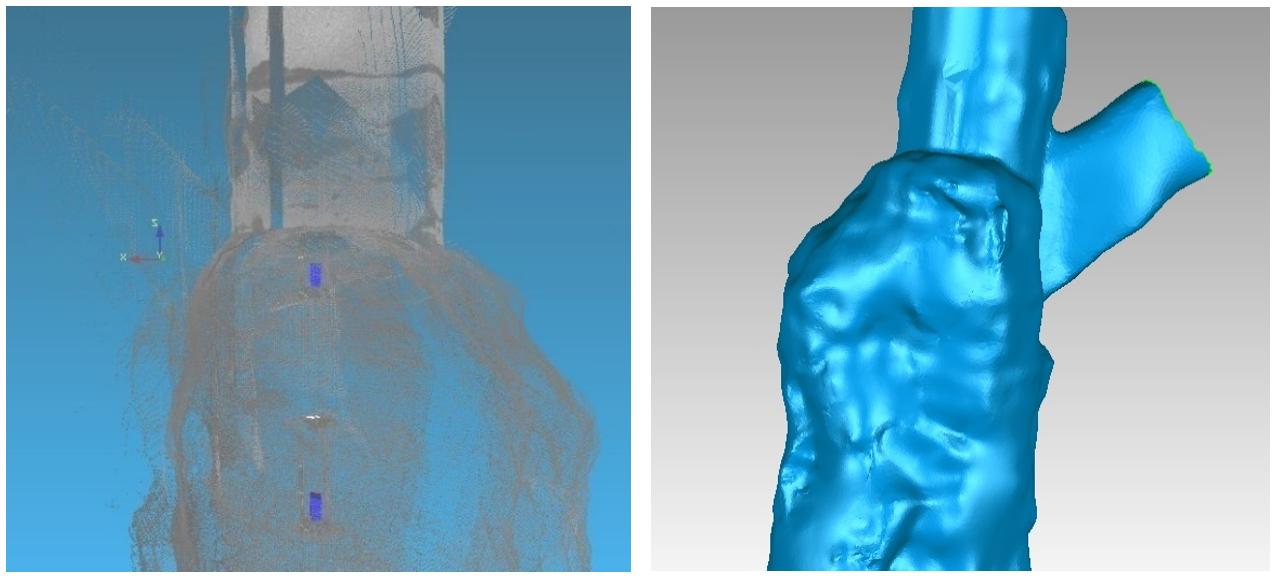 華測CMS空區三維掃描系統應用于采空區的勘測,CMS空區三維掃描系統的采空區模型封裝