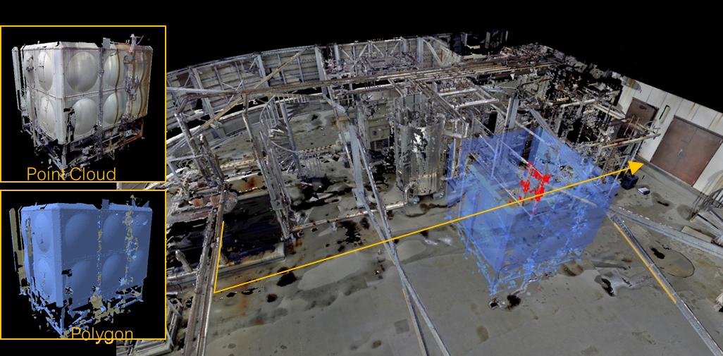 三維激光掃描儀在工廠改造中的應用,工廠改造需要用到的三維掃描儀,工廠改造中的實時幹涉檢查展示