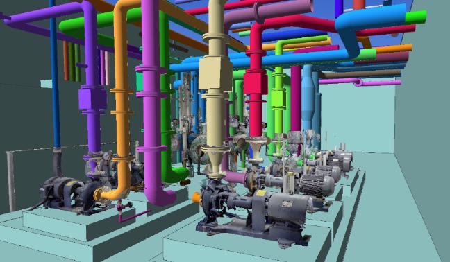 三維激光掃描儀在工廠改造中的應用,工廠改造需要用到的三維掃描儀,工廠改造中導出到設計軟件與BIM對接