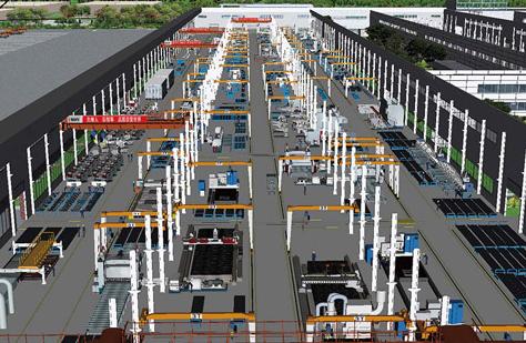 三維激光掃描儀在工廠改造中的應用,工廠改造需要用到的三維掃描儀,工廠改造中的建立廠區三維管理系統,整體三維模型的展示圖