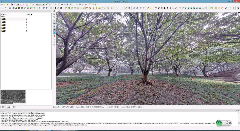 三維激光掃描儀在農林業中的應用,三維激光掃描儀在農林業保護中的應用,數目全景掃描圖展示