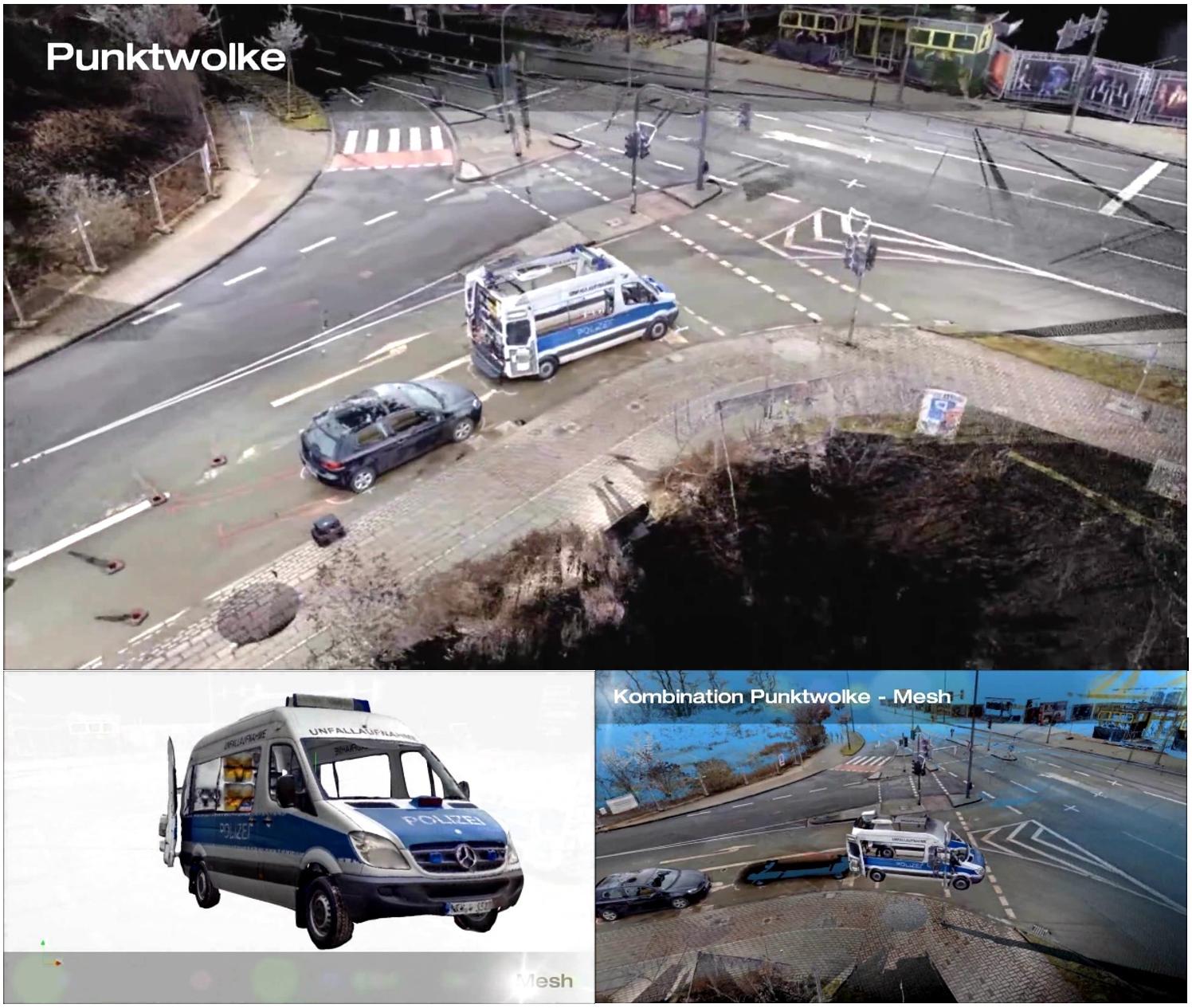 三維激光掃描儀在刑偵或事故現場勘察中的應用,三維掃描儀應用于刑偵事件的模拟推演展示圖