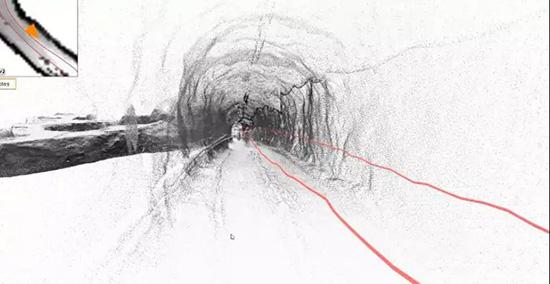 手持式SLAM移動激光掃描系統在礦山測量中的應用,采空區數據處理展示圖