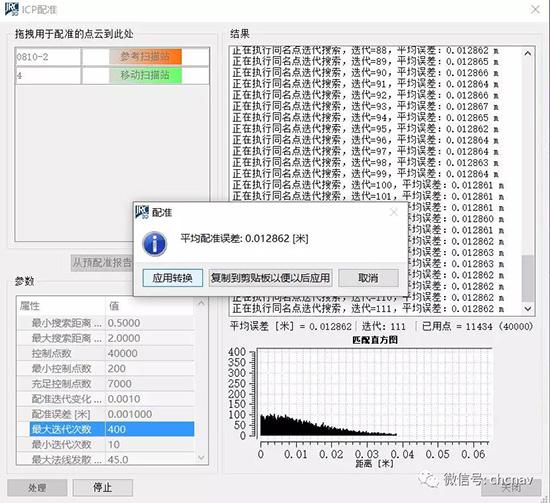 手持式SLAM移动激光扫描系统在矿山测量中的应用,采空区三维量测分析的数据拼接精度展示图,数据拼接警服误差1公分