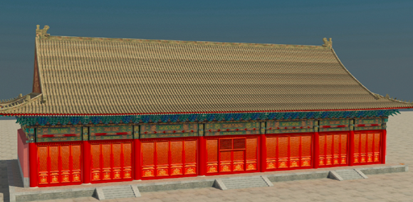 華測Z+F三維掃描儀應用解決方案,Z+F三維掃描儀應用于古建築保護,古建建模成果展示圖