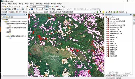 華測導航,北鬥高精度GNSS手持平闆電腦在林業退耕還林項目的成果展示圖,gis工業平闆電腦作業成果展示圖,