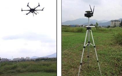 華測無人機1:500地籍測量解決方案,地籍測量方案實施作業現場圖,地籍測量方案現場作業圖