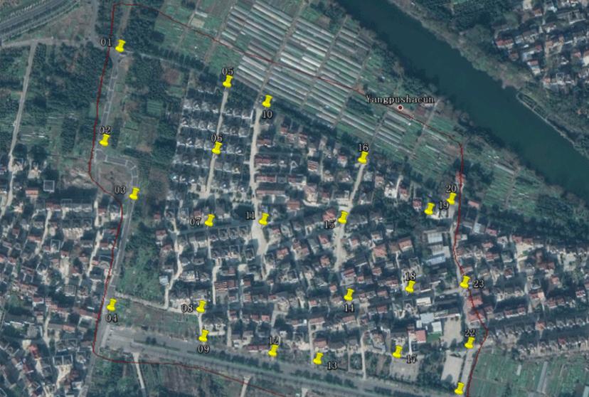 華測無人機1:500地籍測量解決方案,地籍測量方案相控點分布圖,地籍測量實施步驟相控點分布圖