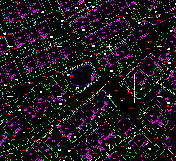 華測無人機1:500地籍測量解決方案,地籍測量數據後處理線劃圖成果,地籍測量線劃圖成果展示圖,華測地籍測量線劃圖成果提交