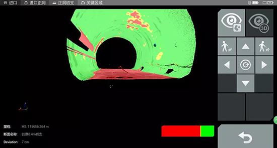 三维激光扫描仪应用于隧道测量之超欠挖显示及实时放样