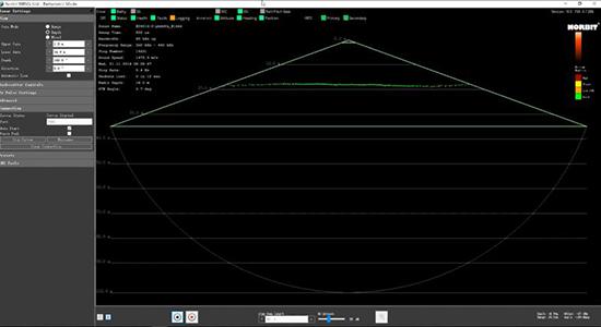 水上水下無人化點雲數據采集方案WBMS GUI軟件顯示界面
