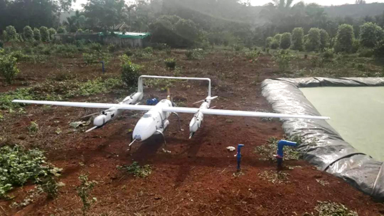 云鹤固定翼无人机搭载AS-900HL激光雷达测量系统