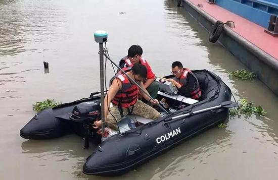 水域測量傳統作業方式:測深儀+rtk