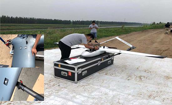 安裝雲鶴-2垂起固定翼無人機