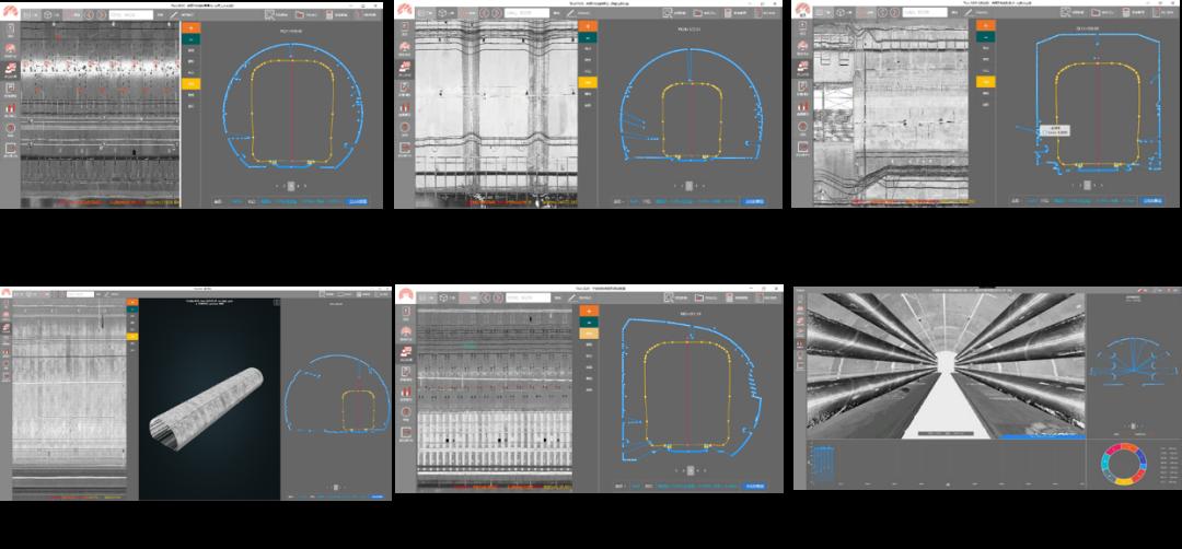 断面激光测量系统适合隧道断面类型