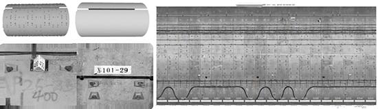 地铁隧道内壁正射投影影像(2mm/像素)